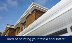Tired of painting your fascia and soffits? gutters leaking?